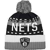 adidas Men's Brooklyn Nets Cuffed Pom Knit Hat