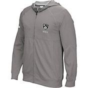 adidas Men's Brooklyn Nets Pre-Game Grey Full-Zip Hoodie