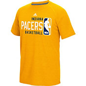adidas Men's Indiana Pacers climalite Energy Stripe Yellow T-Shirt