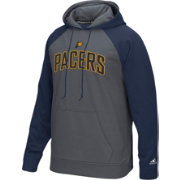 adidas Men's Indiana Pacers climawarm Tip-Off Grey/Navy Hoodie