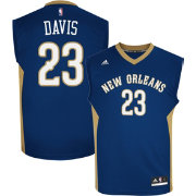 adidas Men's New Orleans Pelicans Anthony Davis #23 Replica Navy Basketball Jersey
