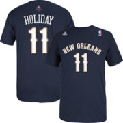 adidas Men's New Orleans Pelicans Jrue Holiday #11 Navy T-Shirt