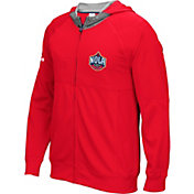 adidas Men's New Orleans Pelicans Pre-Game Red Full-Zip Hoodie