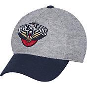 adidas Men's New Orleans Pelicans Structured Grey Flex Hat