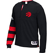 adidas Men's Toronto Raptors On-Court Black Long Sleeve Shooting Shirt