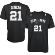 adidas Men's San Antonio Spurs Tim Duncan #21 Black T-Shirt