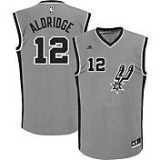 adidas Men's San Antonio Spurs LaMarcus Aldridge #12 Alternate Grey Replica Jersey