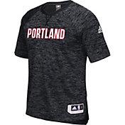 adidas Men's Portland Trail Blazers On-Court Black Shooting Shirt