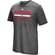 adidas Men's Portland Trail Blazers Grey Aeroknit Shooting Shirt