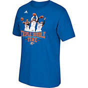 """adidas Men's Oklahoma City Thunder Russell Westbrook """"Triple Double Time"""" Blue T-Shirt"""
