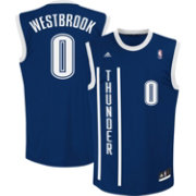 adidas Men's Oklahoma City Thunder Russell Westbrook #0 Alternate Navy Replica Jersey