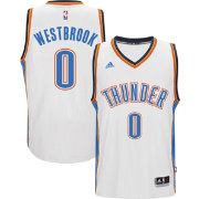 adidas Men's Oklahoma City Thunder Russell Westbrook #0 Home White Swingman Jersey