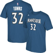 adidas Men's Minnesota Timberwolves Karl-Anthony Towns #32 Blue T-Shirt