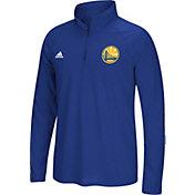 adidas Men's Golden State Warriors climalite Royal Ultimate Quarter-Zip Shirt