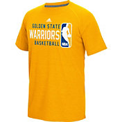 adidas Men's Golden State Warriors climalite Energy Stripe Yellow T-Shirt