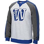 adidas Originals Men's Golden State Warriors Varsity Grey Fleece Crew Pullover