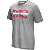 adidas Men's Washington Wizards Grey Aeroknit Shooting Shirt