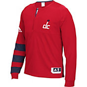 adidas Men's Washington Wizards On-Court Red Long Sleeve Shooting Shirt
