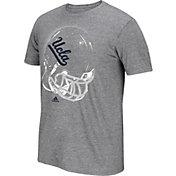 adidas Men's UCLA Bruins Grey Football Helmet T-Shirt