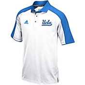 adidas Men's UCLA Bruins White/True Blue Sideline Performance Polo