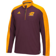 adidas Men's Central Michigan Chippewas Maroon/Gold Sideline Long Sleeve Quarter-Zip Shirt