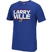 adidas Men's Kansas Jayhawks Blue Nickname Short Sleeve T-Shirt