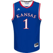 adidas Men's Kansas Jayhawks #1 Blue Replica Basketball Jersey