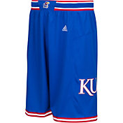 adidas Men's Kansas Jayhawks Blue Replica Basketball Shorts