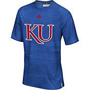 adidas Men's Kansas Jayhawks Blue Sideline Training T-Shirt