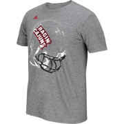 adidas Men's Louisiana Lafayette Ragin' Cajuns Grey Football Helmet T-Shirt