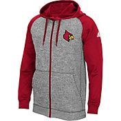 adidas Men's Louisville Cardinals Grey/Cardinal Red Full-Zip Tech Fleece Hoodie