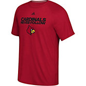 adidas Men's Louisville Cardinals Cardinal Red 'Never Follow' T-Shirt