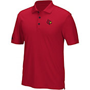 adidas Men's Louisville Cardinals Cardinal Red Performance Polo