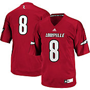 adidas Men's Louisville Cardinals #8 Cardinal Red Replica Football Jersey