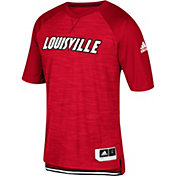 adidas Men's Louisville Cardinals Shooter Red Short Sleeve T-Shirt