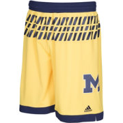 adidas Men's Michigan Wolverines Maize Replica Basketball Shorts