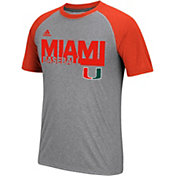 adidas Men's Hurricanes Grey Short Sleeve Baseball T-Shirt