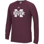 adidas Men's Mississippi State Bulldogs Maroon Cut The Net Long Sleeve T-Shirt