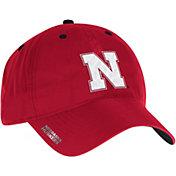 adidas Men's Nebraska Cornhuskers Red Sideline Coaches Adjustable Slouch Hat