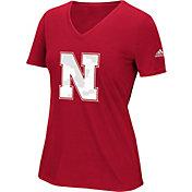 adidas Women's Nebraska Cornhuskers Scarlet Triax Performance T-Shirt