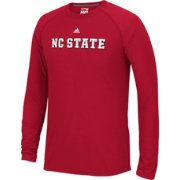 adidas Men's North Carolina State Wolfpack Red Cut The Net Long Sleeve T-Shirt