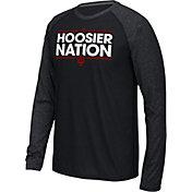 adidas Men's Indiana Hoosiers Dassler Local Black Long Sleeve Shirt