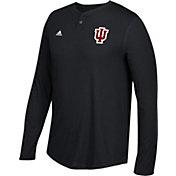 adidas Men's Indiana Hoosiers Hoosiers Henley Long Sleeve Shirt