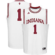 adidas Men's Indiana Hoosiers #1 White Replica Basketball Jersey