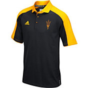 adidas Men's Arizona State Sun Devils Black/Gold Sideline Performance Polo