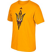 adidas Men's Arizona State Sun Devils Gold Chromed Logo T-Shirt