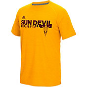 adidas Men's Arizona State Sun Devils Gold Sideline Grind Football Short Sleeve T-Shirt