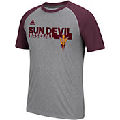 adidas Men's Sun Devils Grey Short Sleeve Baseball T-Shirt