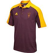 adidas Men's Arizona State Sun Devils Maroon/Gold Sideline Performance Polo