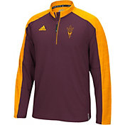 adidas Men's Arizona State Sun Devils Maroon/Gold Sideline Long Sleeve Quarter-Zip Shirt